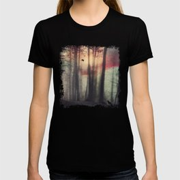 Blurred Vision - Forest and birds at sunrise T-shirt