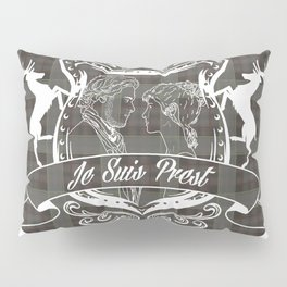 Outlander plaid with Je Suis Prest crest Pillow Sham