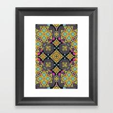 Happy Summer mandala Framed Art Print