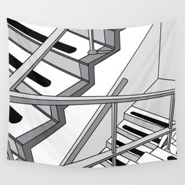 STAIRWELL Abstract Art Wall Tapestry