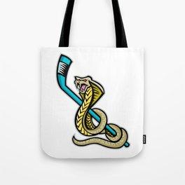 King Cobra Ice Hockey Sports Mascot Tote Bag