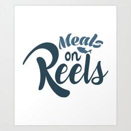 Meals on reels Art Print
