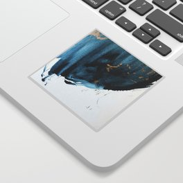 Sapphire and Gold Abstract Sticker