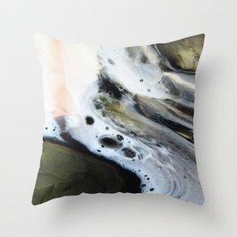 Spirit Wolf - Original Abstract Painting Throw Pillow