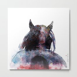 Horse (Mane&tail - ver. 2) Metal Print