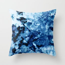 Ice Dye #2 Throw Pillow