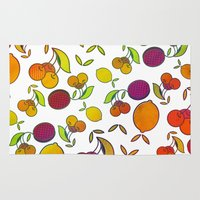 fruits Area & Throw Rugs featuring Fruits by VessDSign