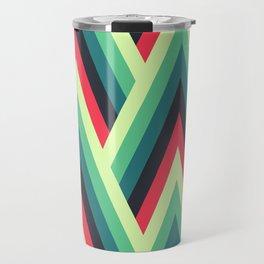 ZIG ZAG yellow, green, blue, black red Shapes Travel Mug