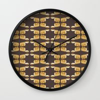 bread Wall Clocks featuring bread by Jaeyun Woo
