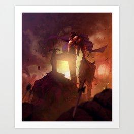 Luca Blight the Beast of Suikoden II Art Print