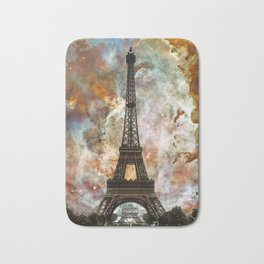 The Eiffel Tower - Paris France Art By Sharon Cummings Bath Mat