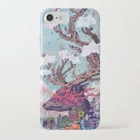 spirit iPhone & iPod Cases featuring Journeying Spirit (deer) by Mat Miller