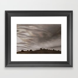 the sky is acting funny Framed Art Print