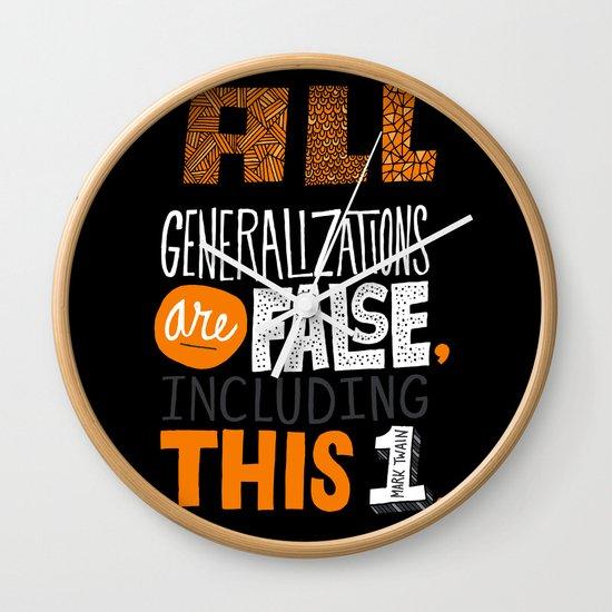 All Generalizations Wall Clock