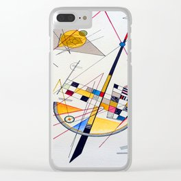 Kandinsky Delicate Tension Clear iPhone Case