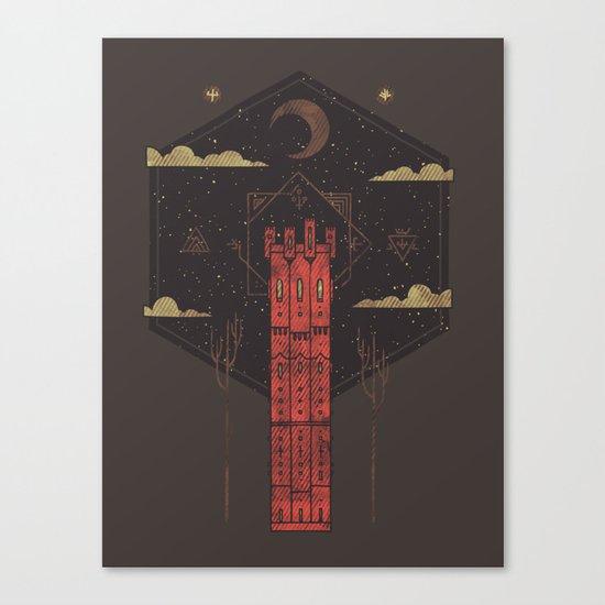 The Crimson Tower Canvas Print