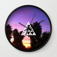 adventure Wall Clocks featuring ADVENTURE by Wesley Bird
