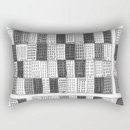 New York Streetscape (black and white) Rectangular Pillow