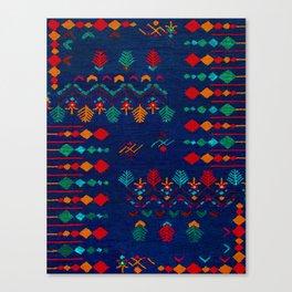 -A17- Anthropologie Moroccan Blue Artwork. Canvas Print