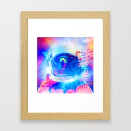 Synthwave Space: Astronaut #1 Framed Art Print
