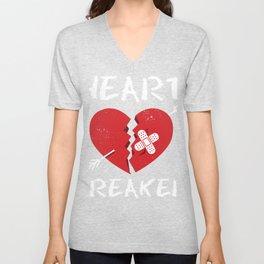 Valentine's Heart Breaker Gift design For Lovers Unisex V-Neck