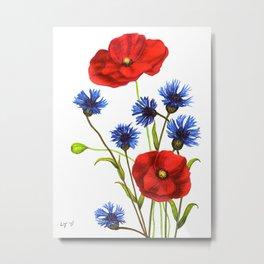 Flowers by Lars Furtwaengler| Ink Pen | 2011 Metal Print