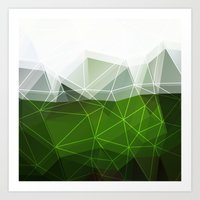 Green abstract background Art Print