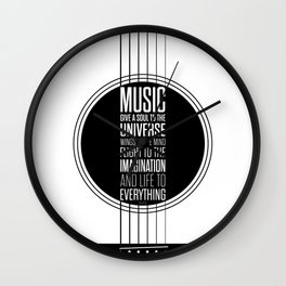 Lab No. 4 - Plato philosopher Inspirational Music Quotes  poster Wall Clock