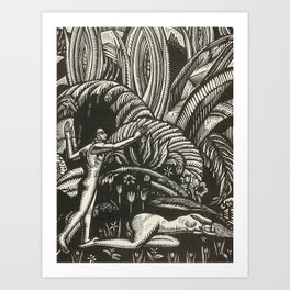 Spring, Engraving from Song of Solomon, 1929 by Cecil Buller Art Print