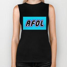 AFOL in Brick Font Logo Design [Alternate Colors] by Chillee Wilson Biker Tank