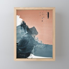 Renew: a minimal abstract piece in coral and blue by Alyssa Hamilton Art Framed Mini Art Print