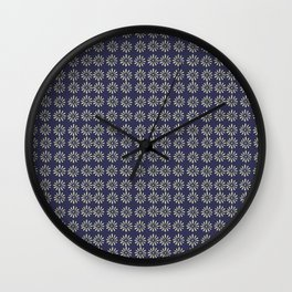Simple Navy Floral Wall Clock