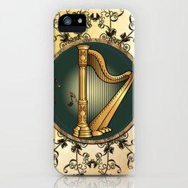 Golden harp iPhone Case