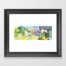 Norwich- City of Stories Framed Art Print