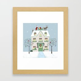 Christmas House Framed Art Print