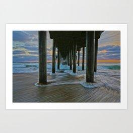 Surf City Sunset 11/29/14    Art Print