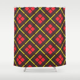 Red and black plaid pattern Shower Curtain