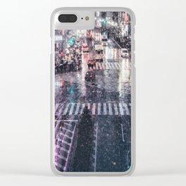 Rainy Night at Shibuyacrossing Clear iPhone Case