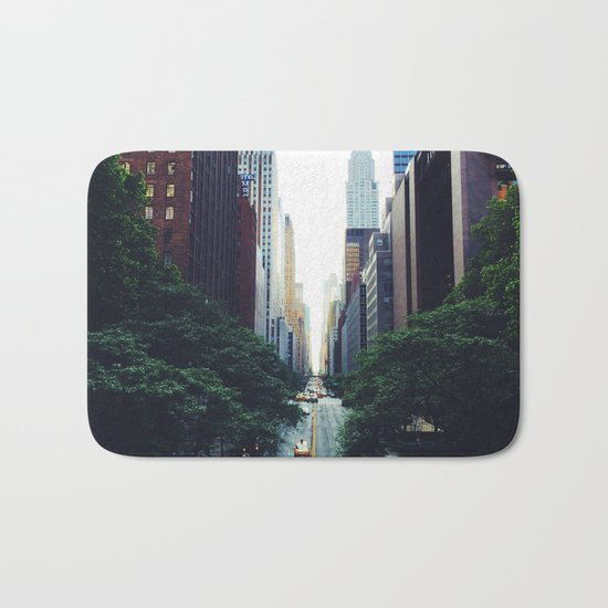 New York City Street Skyscapers Travel Wanderlust #tapestry Bath Mat