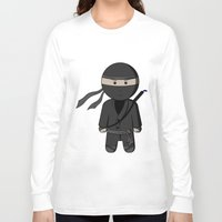 ninja Long Sleeve T-shirts featuring Ninja by Shyam13