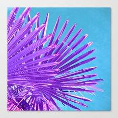 purple palm leaf IV Canvas Print