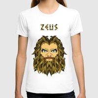 mythology T-shirts featuring Greek Mythology ZEUS by TECHNE