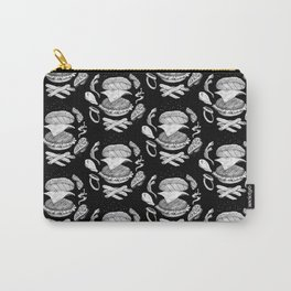 Burger Diagram (Black and White variant) Carry-All Pouch