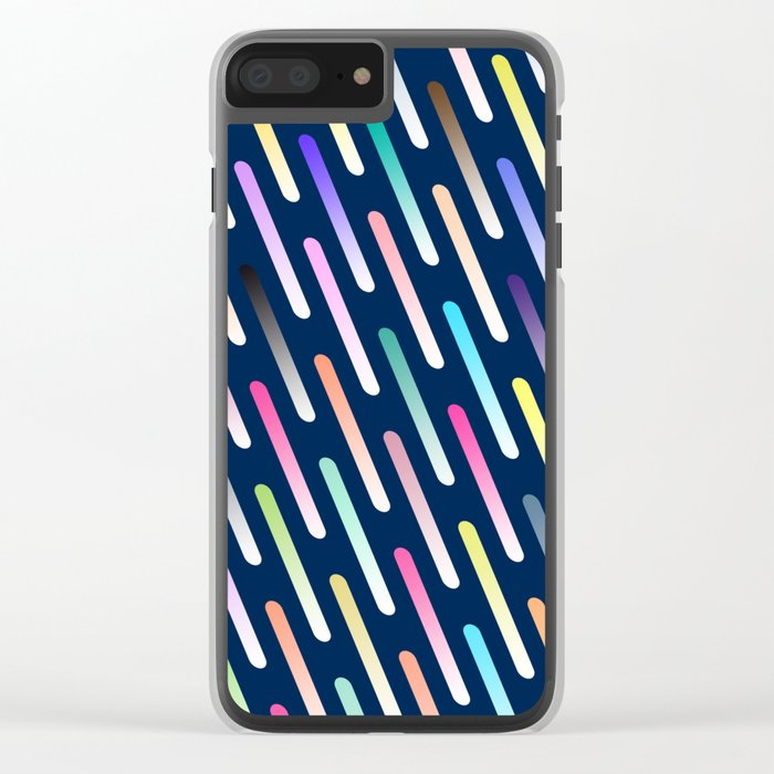 Abstract cosmic rain Clear iPhone Case