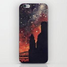 Starry Night in Pittsburgh iPhone Skin