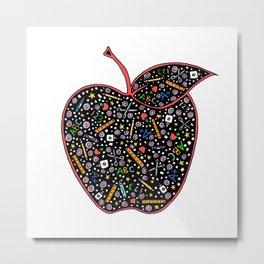 Teacher's Apple colour Metal Print