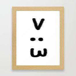 >:3 Framed Art Print