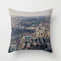 toronto Throw Pillows featuring Toronto by Nick De Clercq