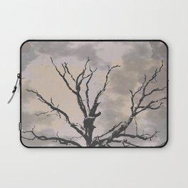 Stormy Skies, Abstract Art Tree Storm Clouds Laptop Sleeve