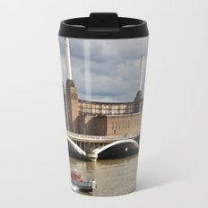Battersea Power Station with Pink Floyd Pig Travel Mug